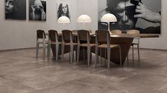 Concrete Tiles, Bar Stools, Stoneware, Virginia, Porcelain, Dining Table, Bronze, Flooring, Living Room