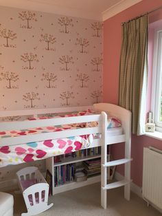 2nd home project complete and loving our daughter's new room with Apple Trees wallpaper by Camengo Lollipops!