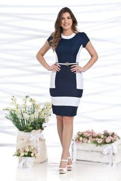 moda evangelica vestido tubinho