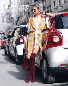 Get this look: http://lb.nu/look/8691915 More looks by Rana Demir: http://lb.nu/ranad Items in this look: Roman Kimono, Balenciaga Sunnies