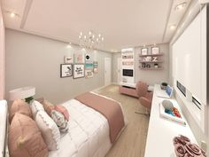Bedroom design ideas - The bedroom is the most comfortable place to rest. Do not you let your bedroom fall apart with a mediocre design. Discover the inspiration of modern, cool, luxurious, beautiful bedroom designs, etc. Modern Teen Bedrooms, Teen Girl Bedrooms, Modern Bedroom, Girl Rooms, Beautiful Bedroom Designs, Beautiful Bedrooms, Fall Bedroom, Room Decor Bedroom, Diy Bedroom