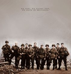 Band of Brothers is one of the best show I've ever watched. I've watched the series at least 5 times. Band Of Brothers Quotes, Tv Band, Big Brother Quotes, Company Of Heroes, We Happy Few, War Photography, American Soldiers, American Pride, Film Stills