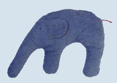 Pat & Patty nekkussen - Elephant - Cotton Organic kwaliteit, blauw
