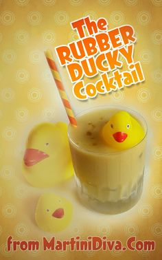 The #RubberDucky #Mango #Pineapple #CocktailSlushie for #NationalRubberDuckyDay from MartiniDiva.Com.