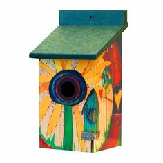Art Vinyl Sunflower Birdhouse