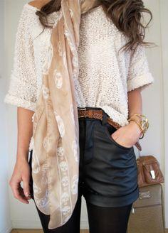Shorts & sweater