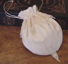 Bridal purse wedding bag reticule regency by greenwillow on Etsy, $36.00