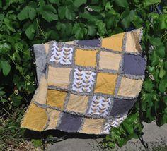 Richard and Tanya Quilts: Rag Quilt with all Minky Back