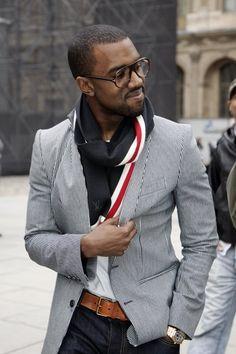 Kanye is rockin this blazer look!