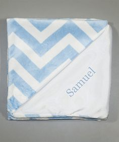 Another great find on #zulily! Blue Zigzag Personalized Stroller Blanket #zulilyfinds