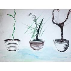 #art #drawing #plants #illustration #ink #mixedmedia #watercolor #lines #design #doodle #scribble #raw #arttherapy #painting