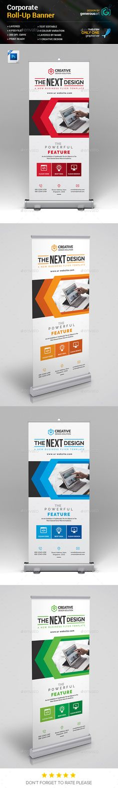 Roll-Up Banner Template PSD