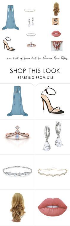 """hof look"" by katelynshadows ❤ liked on Polyvore featuring Alex Perry, Gianvito Rossi, Kate Spade, Jennifer Behr and Lime Crime"
