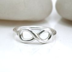 Sterling Silver Infinity Ring Delicate Love Knot by BellaBijouToo, $34.00