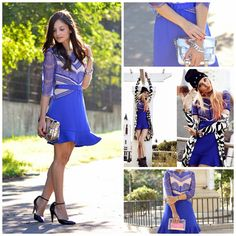 How to Chic: BLUE LACE DRESS