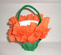 Halloween Favors Orange Black Orange Green baskets wedding party favors