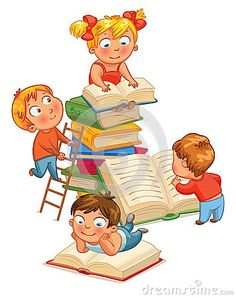 Children reading books in the library vector illustration isolated on white background free printable preschool template . Kids Reading Books, Superhero Kids, Language Development, Kindergarten Reading, Book Images, Childhood Education, Early Childhood, Fun Activities, Books To Read