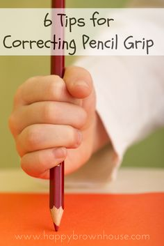 6 Tips for Correcting Pencil Grip Does your child hold a pencil funny? Are you trying to teach a child how to cold a pencil correctly? These 6 Tips for Teaching Correct Pencil Grip with helpful how-to tutorial videos can help! Preschool Writing, Preschool Learning, Early Learning, Preschool Activities, Dementia Activities, Physical Activities, Name Writing Activities, Teaching Kids To Write, Cutting Activities