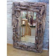 Reclaimed Teak Root Rectangular Mirror