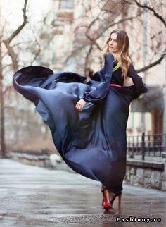 Глубокое синее...платье