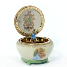 San Francisco Music Box Beatrix Potter and Peter Rabbit Hinged Trinket Box - Giving Gallery
