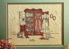 Leisure Arts 520 A Cameo Of The Past #CrossStitch #Pattern #Leaflet #PaulaVaughan 1988 #LeisureArts #Sampler