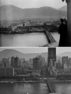 Lanzhou (1930 e 2016) (Foto: Dheera Venkatraman)