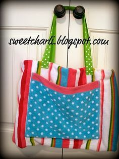 Beach bag from a towel by @Kami Bremyer@ SweetCharli #sewing