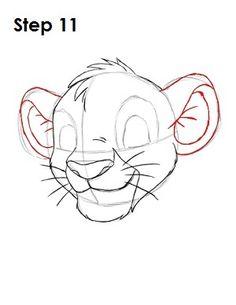 Draw Simba Step 11