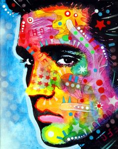 Elvis by Dean Russo Art. Looks like modern graffiti Musica Elvis Presley, Graffiti, Dean Russo, Cultura Pop, Photomontage, Drawing, Metal Wall Art, Online Art Gallery, Rainbow Colors