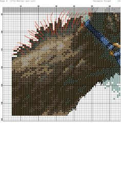 Cross stitch horse and foal5/8*#*