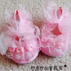 Wholesale Girl  Leather Cotton Fabric Rubber Plastic Fur   Pink Rose Flower Rosette Baby Girl First Walkin ...