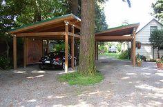 Hu Adjacent to Ouse Carport Wooden | back
