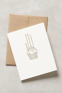 Anthropologie Birthday Cupcake Card #anthrofave