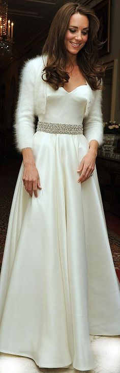 Kate's second dress for wedding reception