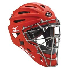 Catchers Protection 73911: Mizuno G4 Samurai Adult Catcher S Helmet, Red -> BUY IT NOW ONLY: $74.95 on eBay!