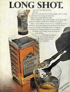 "Lord Calvert Canadian Whiskey ""Long Shot""  Ad   1967"