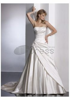 A-line simple pretty strapless wedding dresses Bridal Party Dresses 5bddc9997b61