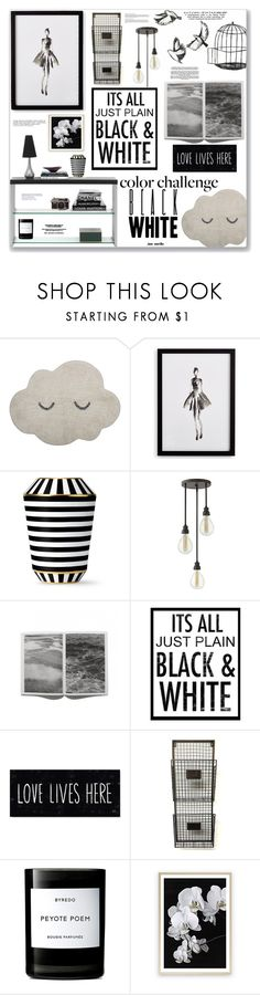 """#22 Color Challenge - Black & White: 15/11/17"" by marika-jane ❤ liked on Polyvore featuring interior, interiors, interior design, home, home decor, interior decorating, Bloomingville, Frontgate, Fürstenberg and Hinkley Lighting"