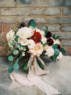 Not the right red, but loved the color of the bow and greens and neutrals