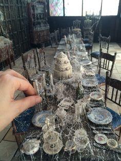 """""""Miss Havisham's Dining Room, scale detail."""