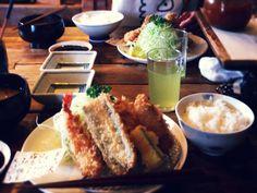 2014.8.15  お昼  /  4種のカツ定
