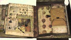 Attlikim - Tim Holtz Folio: Wallflower Mini Album; you tube time 10:12; Dec 26, 2014  NTS:  I like how she used some of the over the edge dies to make envelopes