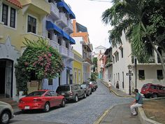 Old City - Puerto Rico.  The reason the scooter was invented!  #ridecolorfully