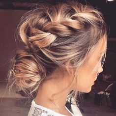 Hairstyles for wedding guests frisuren haare hair hair long hair short Medium Hair Styles, Short Hair Styles, Updo Styles, Up Dos For Medium Hair, Hair Updos For Medium Hair, Updo For Long Hair, Easy Hair, Boho Hair Updo, Braided Hairstyles Medium Hair