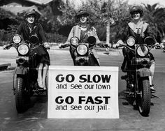 """Los Angeles """"Motorcycle Officerettes,"""" 1927.  (LAPL)"""