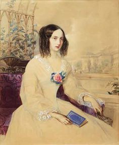 Grand Duchess Maria Nikolayevna--with the Alexander Palace in the background--by Hau.