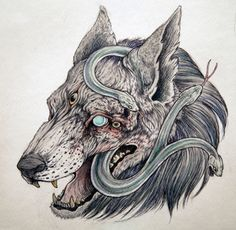 caitlin hackett | Illustration water color dark art caitlin hackett nature art