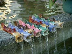 Fun idea for backyard pond :)