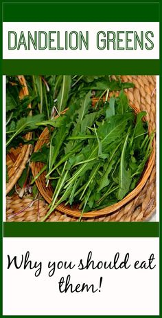Why You Should Eat Dandelion Greens! livingawareness.c...